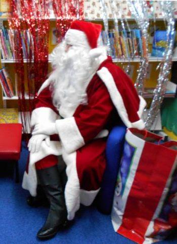 Santa at the library