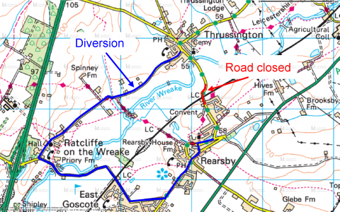 station road closure 23 aug