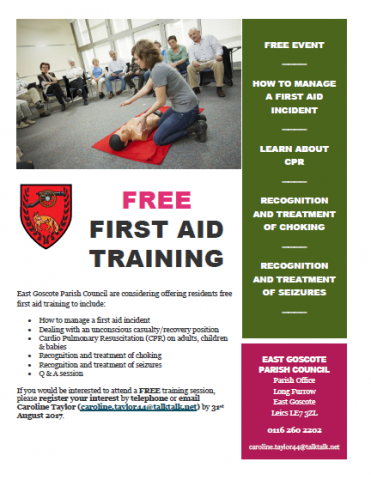 1st Aid training
